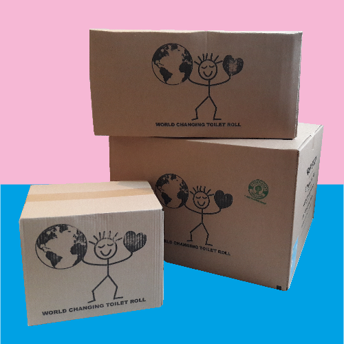 Plastic Free Toilet Rolls made from UK Recycled Paper (Box of 8, 24 and 48 rolls)