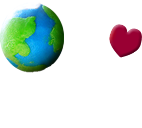 person holding a globe in one hand and a heart in the other hand
